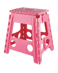 Large Folding Step Stool - Pink