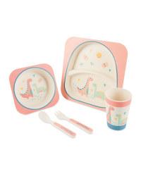 Children's Bamboo Dinner Set - Pink