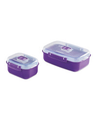 Heat and Eat Container 2 Pack - Purple
