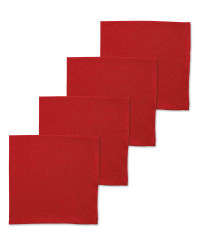 Napkins 4 Pack - Red
