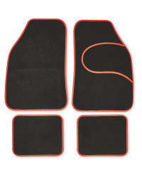 Auto XS Universal Car Mat Set - Red