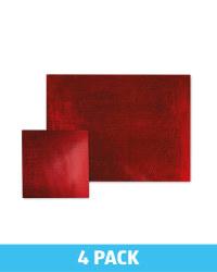 Rectangle Placemat & Coaster Set - Red