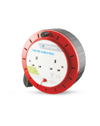 Workzone 5 Metre Cable Reel - Red