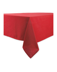 Sparkle Table Cloth 132 x 228cm - Red