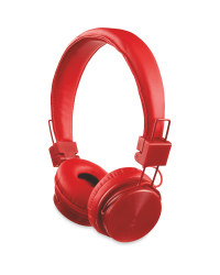 Bauhn Kids' Bluetooth Headphones - Red