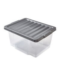 20L Storage Boxes 2 Pack - Silver