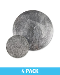 Round Placemat & Coaster Set - Silver