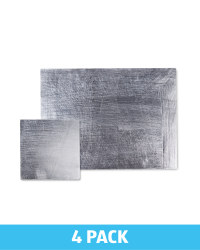 Rectangle Placemat & Coaster Set - Silver