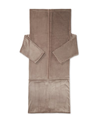 Kirkton House Blanket With Sleeves - Taupe