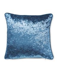 Crushed Velvet Effect Cushion - Teal