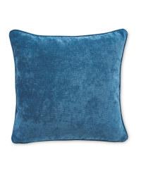 Plain Velvet Effect Cushion - Teal