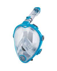 Crane Full Face Snorkel Mask S/M - Turquoise