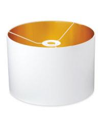 Metallic Lined Lampshade 30 x 20cm - White