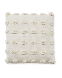 Kirkton House Loop Cushion - White