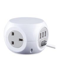Kirkton House Design Socket Cube - White