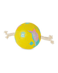 Out Paws Dog Football With Handles - Yellow