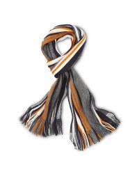 Avenue Men's Rochelle Scarf - Orange/Black