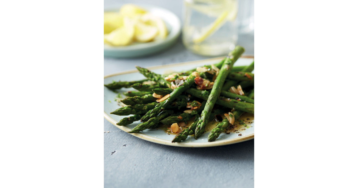 Griddled Asparagus With Almonds Aldi Uk