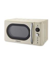Ambiano Cream Retro Microwave Aldi Uk