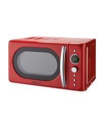 Ambiano Red Retro Microwave Aldi Uk