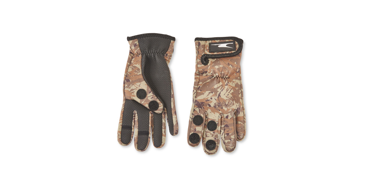 Anglers neoprene printed gloves deal at aldi offer calendar for Neoprene fishing gloves