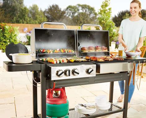 Aldi Holzkohlegrill York : Kamado bbq dual fuel barbecue aldi uk