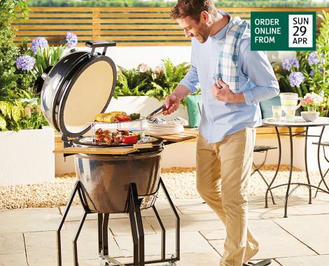 Kamado Bbq Dual Fuel Barbecue Aldi Uk