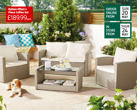 Garden Furniture Rattan Patio Furniture Sets Aldi Uk