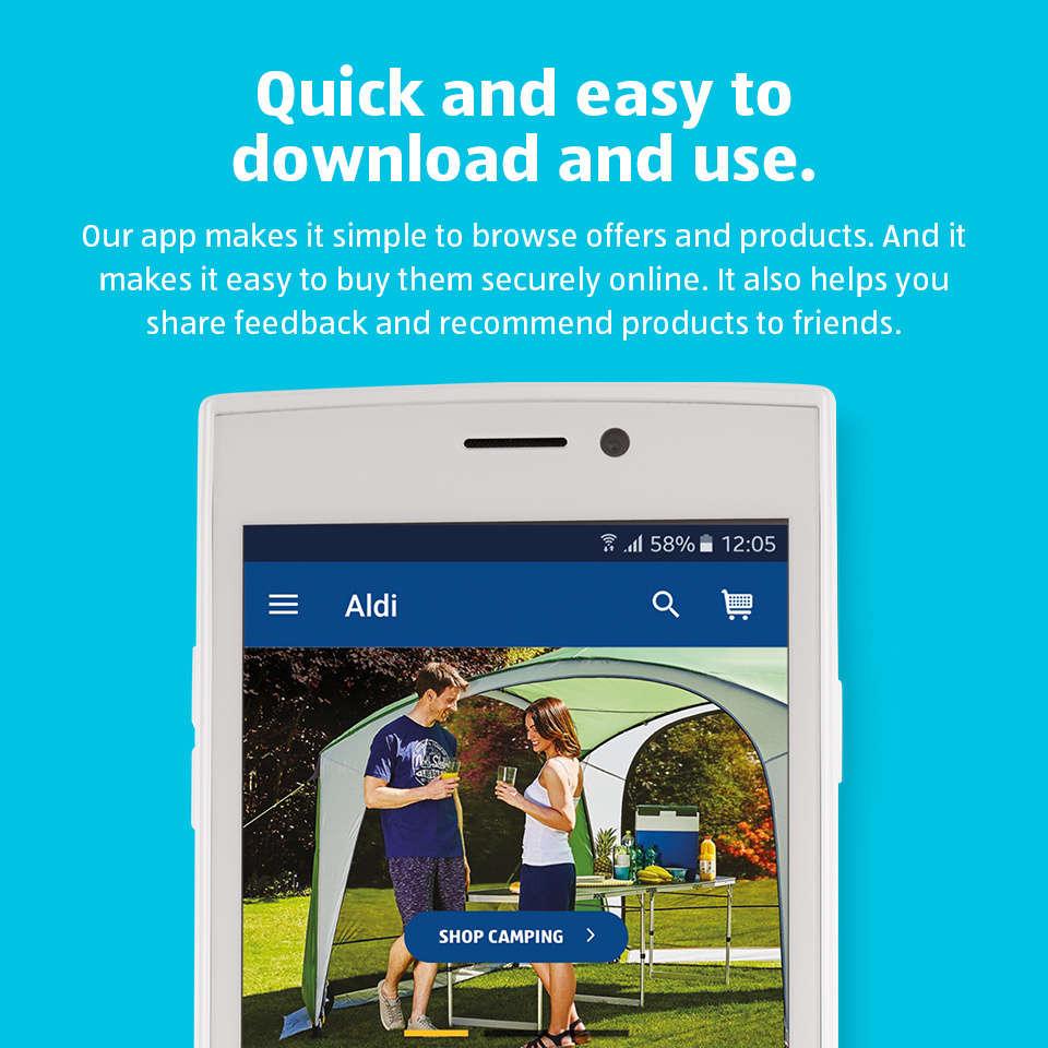 Aldi mobile app aldi uk for Saldi mobili on line