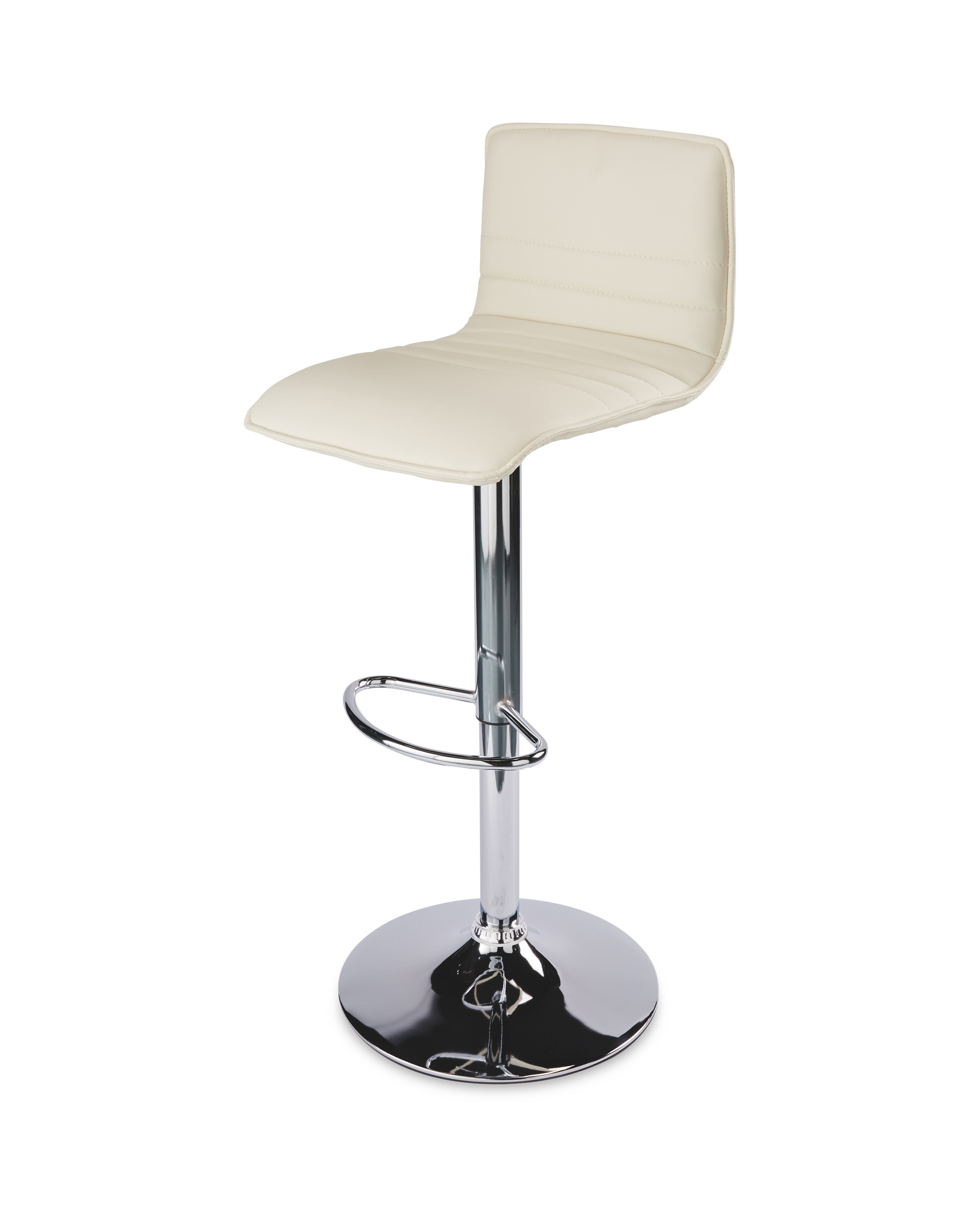Cream high back gas lift bar stool aldi uk