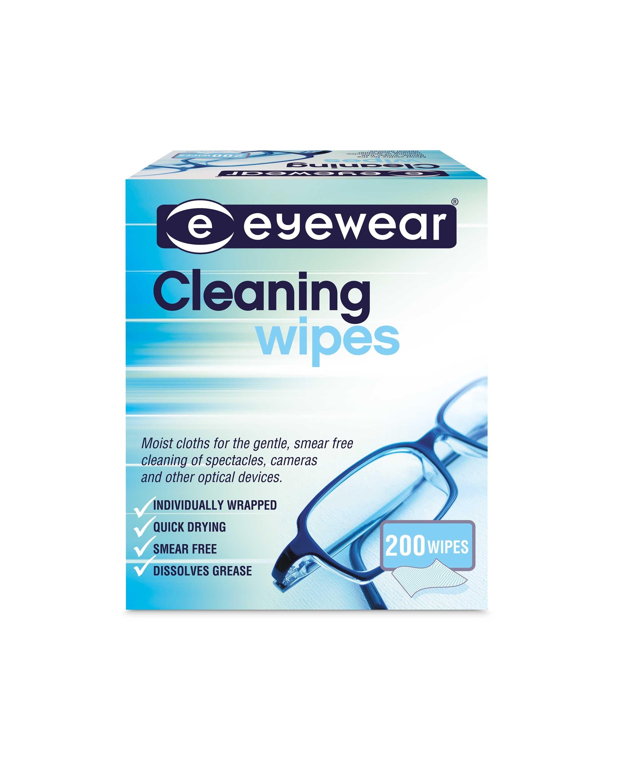 Eyewear Lens Cleaning Wipes 200 Pack - ALDI UK