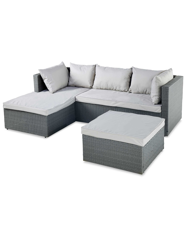 wow rattan effect garden corner sofa. Black Bedroom Furniture Sets. Home Design Ideas