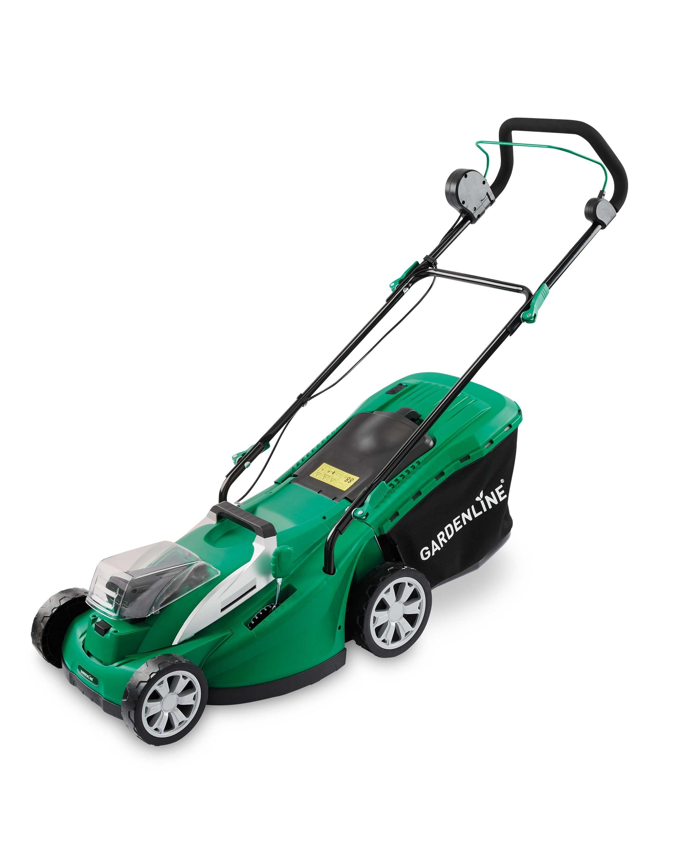 gardenline cordless lawnmower 36v - aldi uk