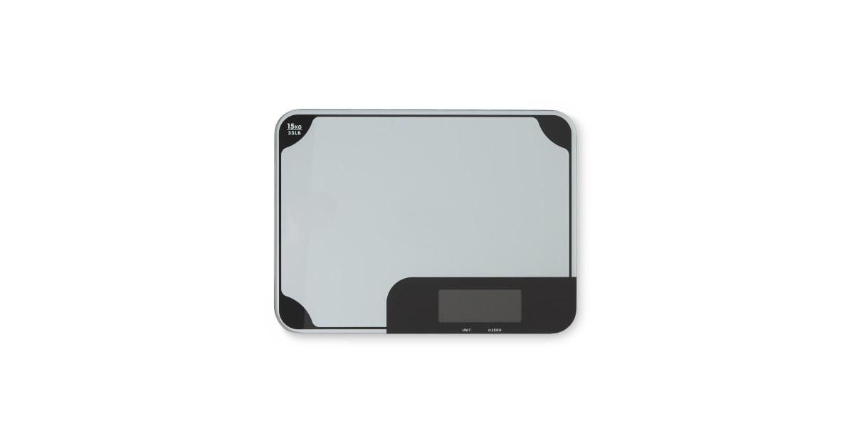 Glass chop and measure scale deal at aldi offer calendar for Glas handtuchhalter aldi
