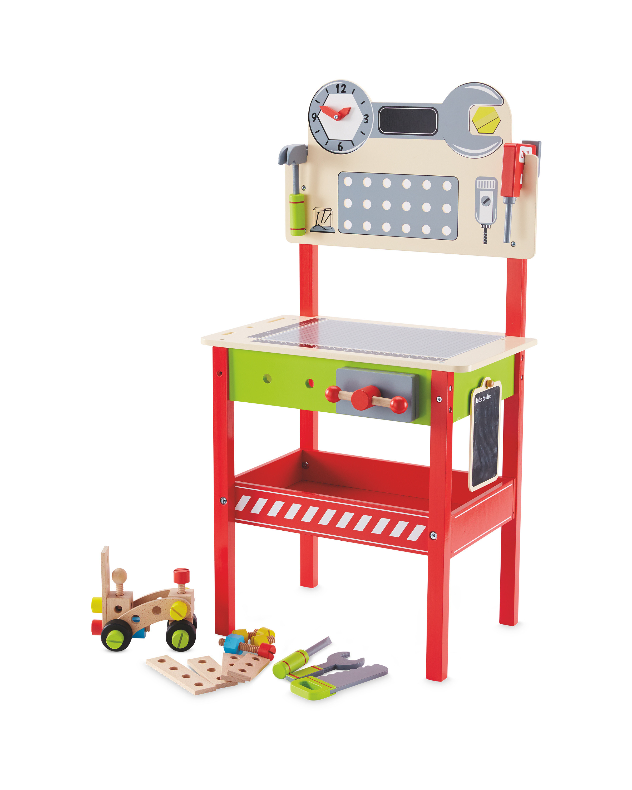 Little Town Wooden Workbench & Tools - ALDI UK