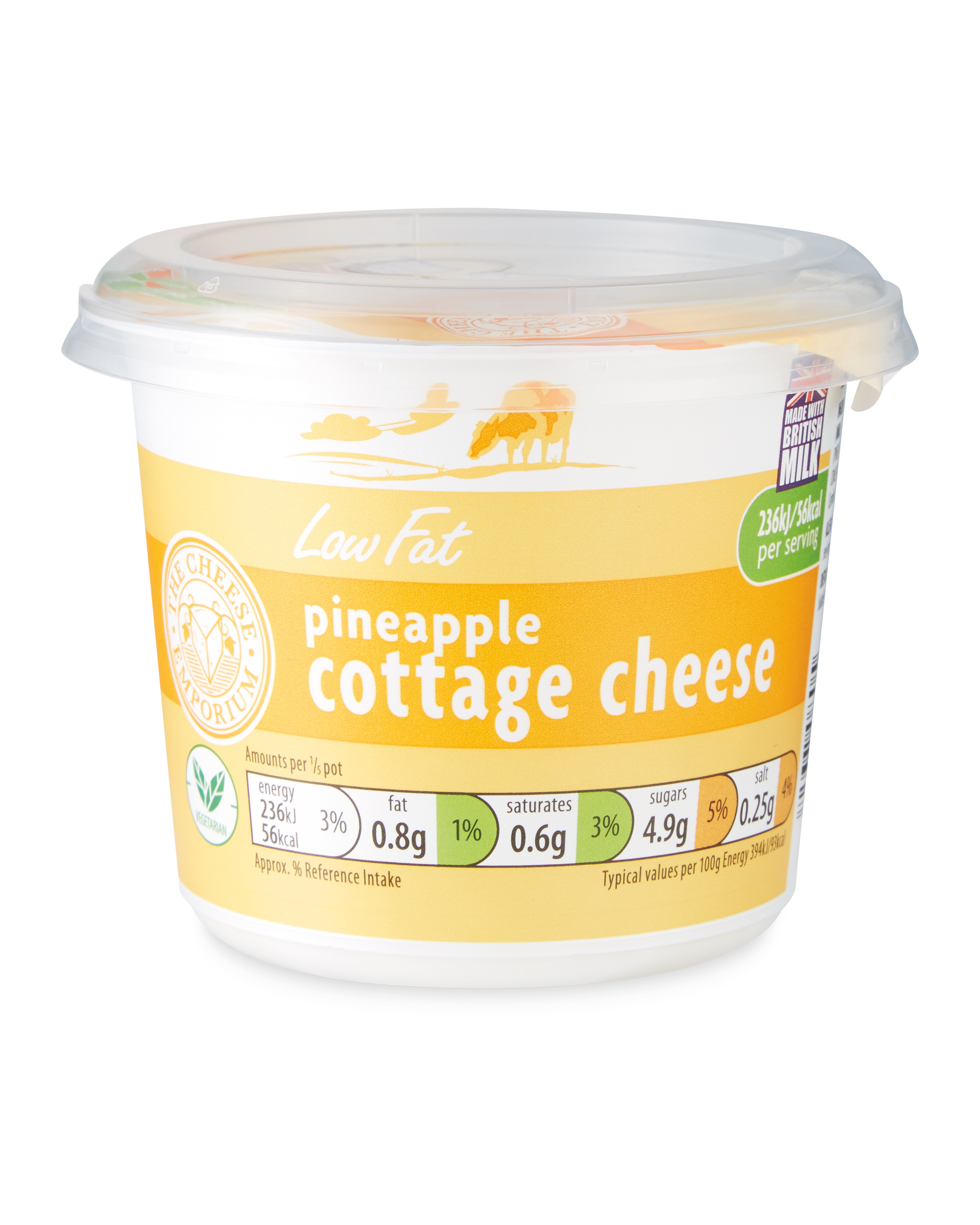 Low Fat Pineapple Cottage Cheese