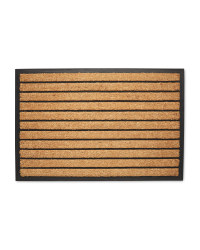 Lined Jumbo Rubber And Coir Mat Aldi Uk