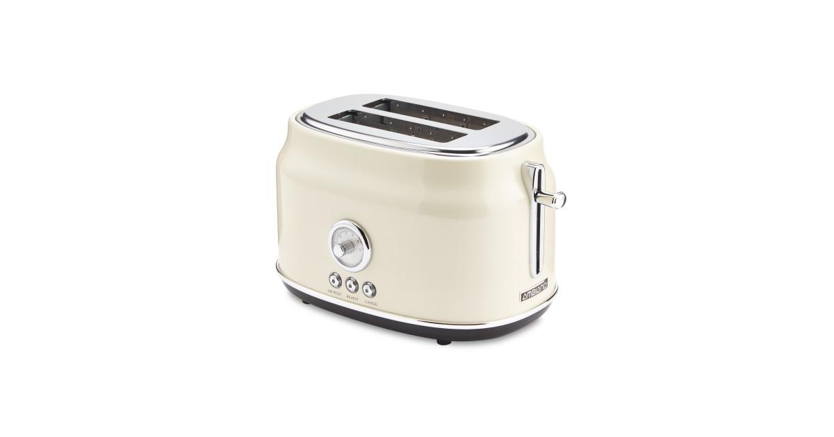 retro toaster cream silver aldi uk