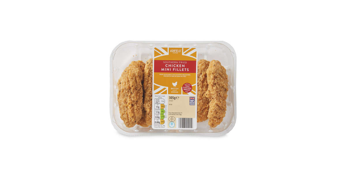 Southern Fried Chicken Mini Fillets Aldi Uk