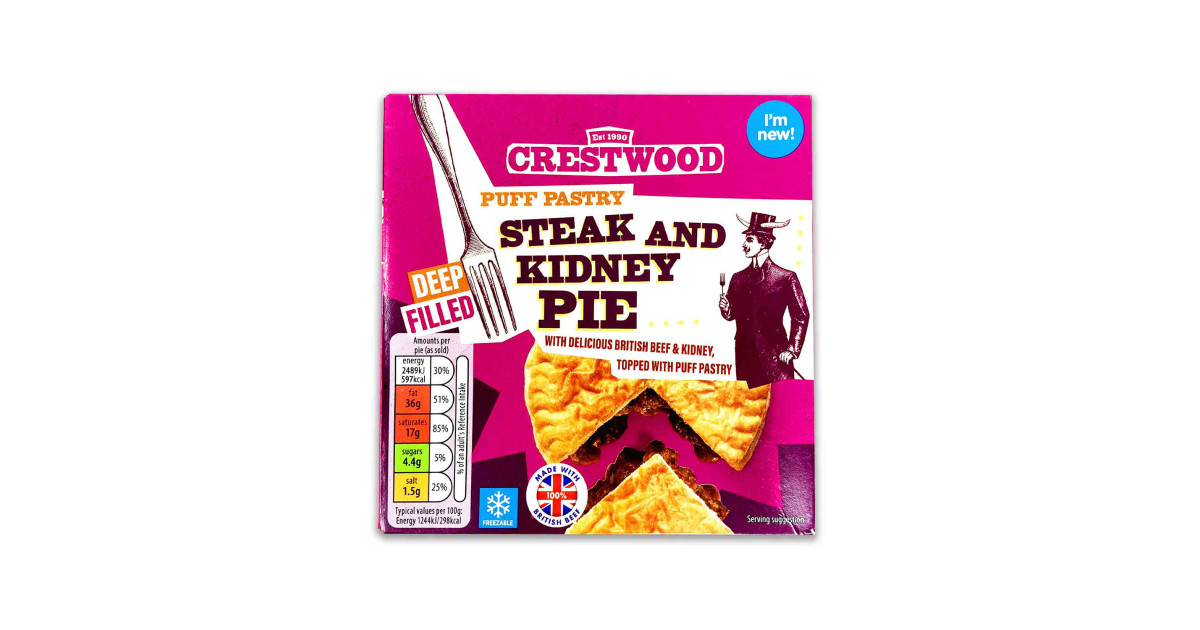 Puff Pastry Steak & Kidney Pie - ALDI UK