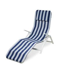 striped reclining sun lounger aldi uk. Black Bedroom Furniture Sets. Home Design Ideas
