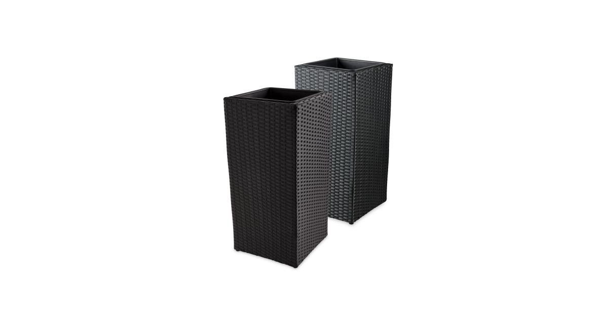 tall cube rattan effect planter aldi uk. Black Bedroom Furniture Sets. Home Design Ideas